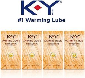 K-Y Warming Liquid Lubricant, 1 oz. (Pack of 4)
