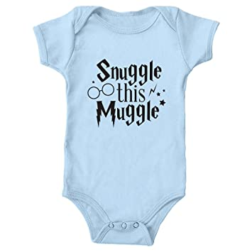 221dc7ec9 Image Unavailable. Image not available for. Color: Tickled Teal Snuggle  this Muggle Baby Onesie Blue ...