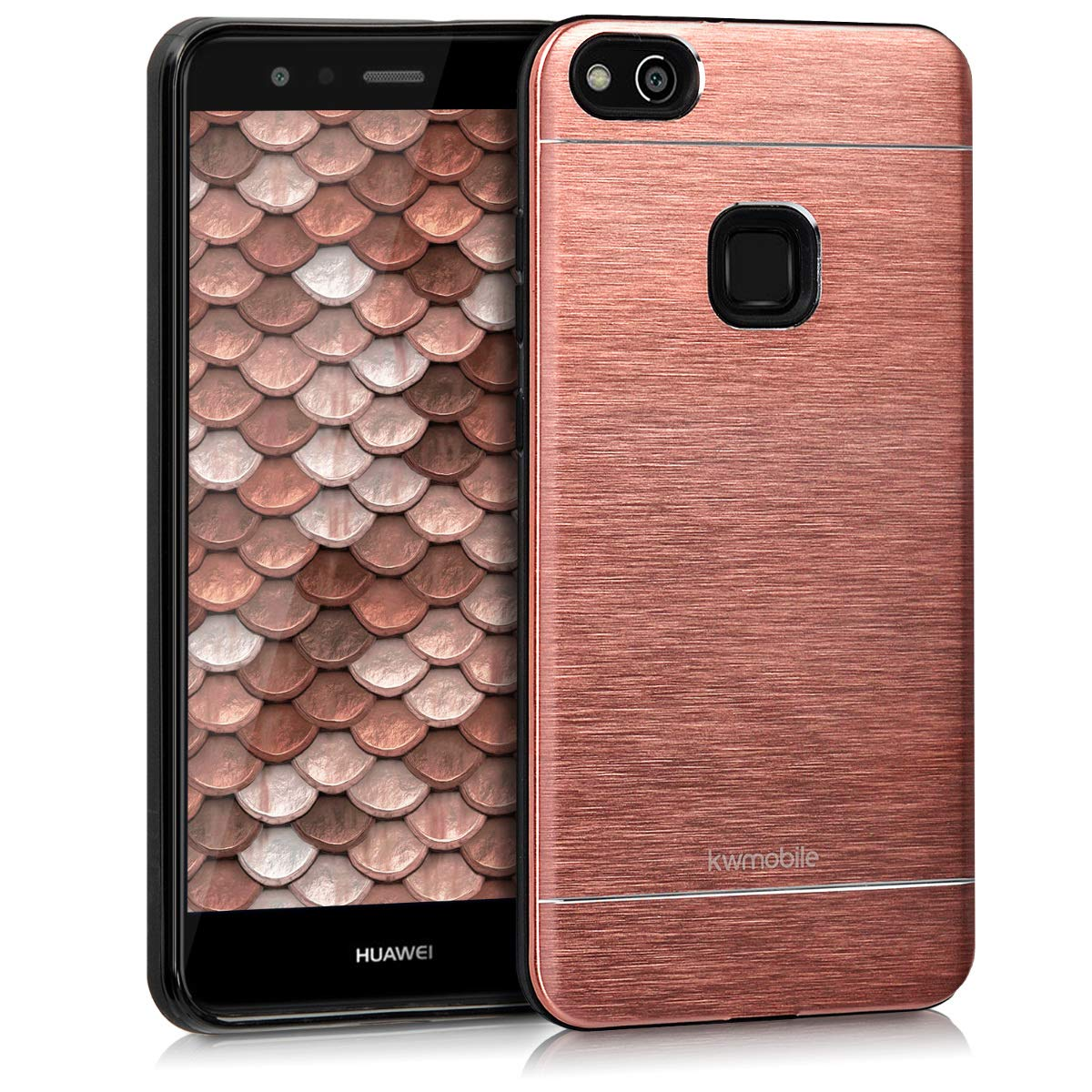 kwmobile Case for Huawei P10 Lite - Durable Shockproof Aluminum ...