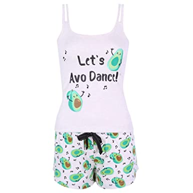 20683e36dc6a5 Avocado Ladies Women s PJ s Cami PJ Set Pyjamas Nightwear Clothing ...