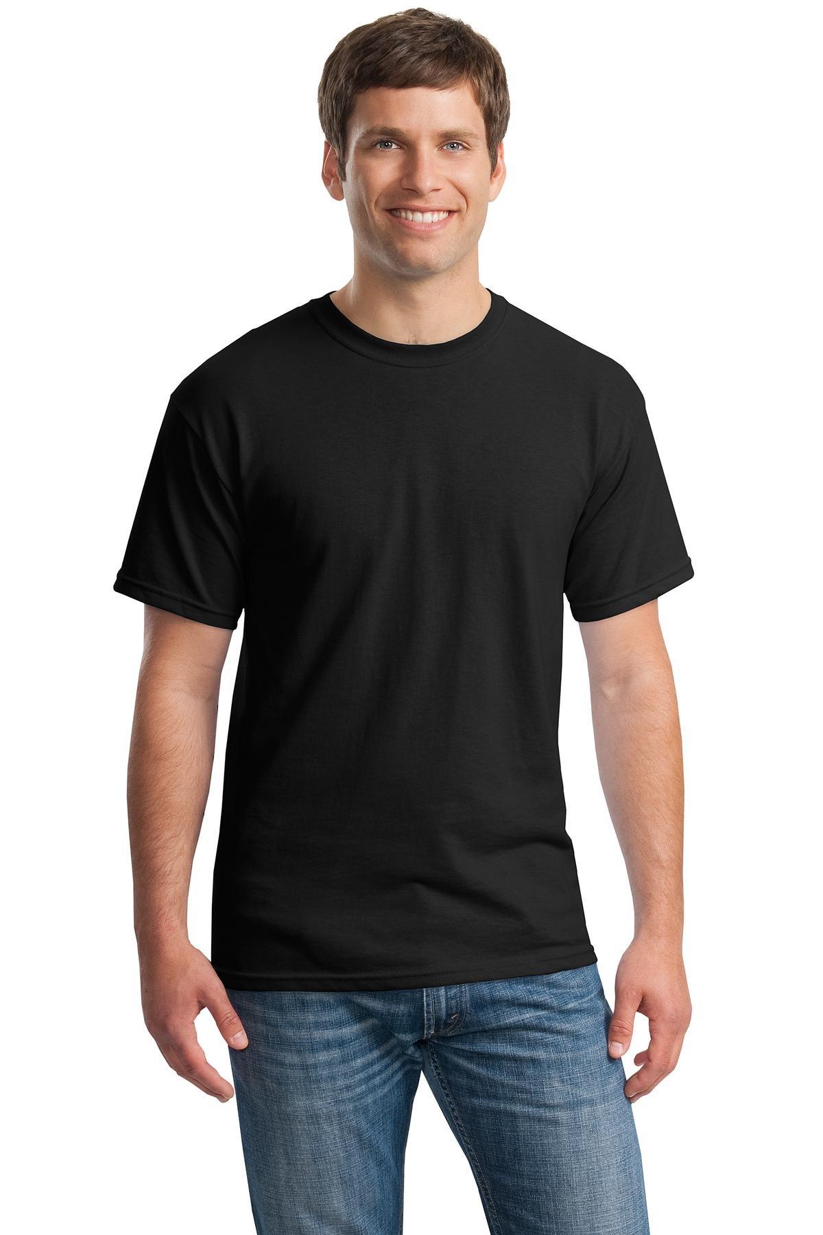 Gildan mens Heavy Cotton 5.3 oz. T-Shirt(G500)-BLACK-L-10PK by Gildan