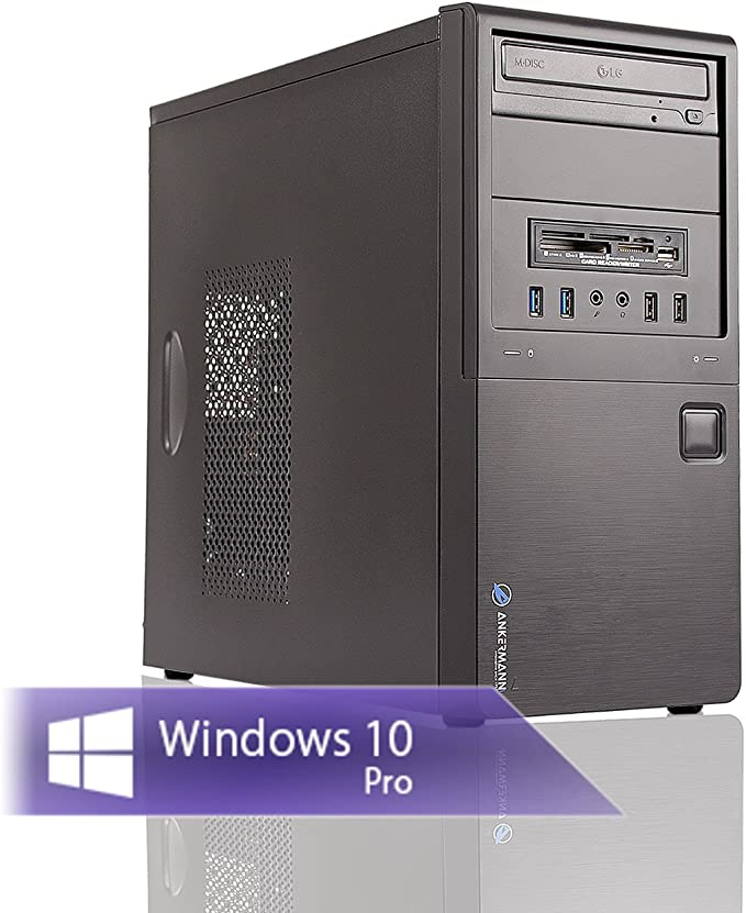 Ankermann Neu Office Work PC PC Intel i5 4570 4x3.20GHz HD Graphic 8GB RAM 480GB SSD Windows 10 Pro