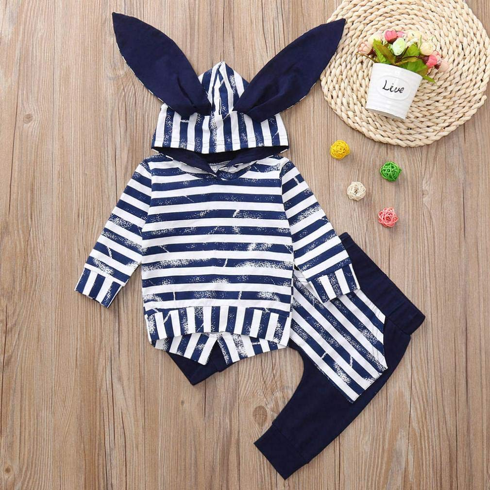 Baby Kids Outfits,Fineser Adorable Infant Toddler Baby Boys Girls Long Sleeve Animal Print Tops Pants Clothes Outfits 2 Sets