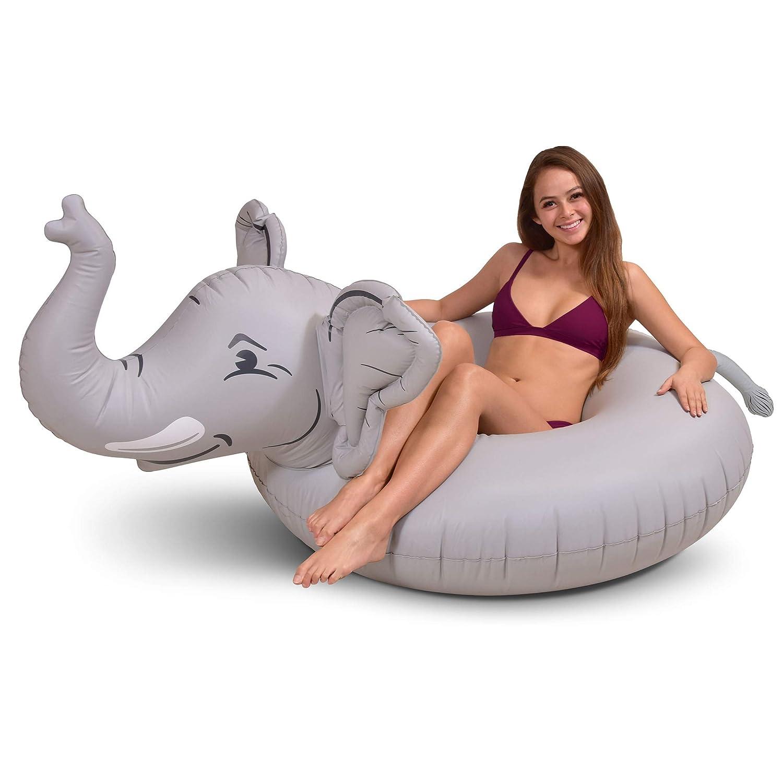 GoFloats Trunks ゾウのパーティー用浮き輪 空気注入式ラフト 楽しいプールフロート 大人と子供用   B07Q7D1GCL