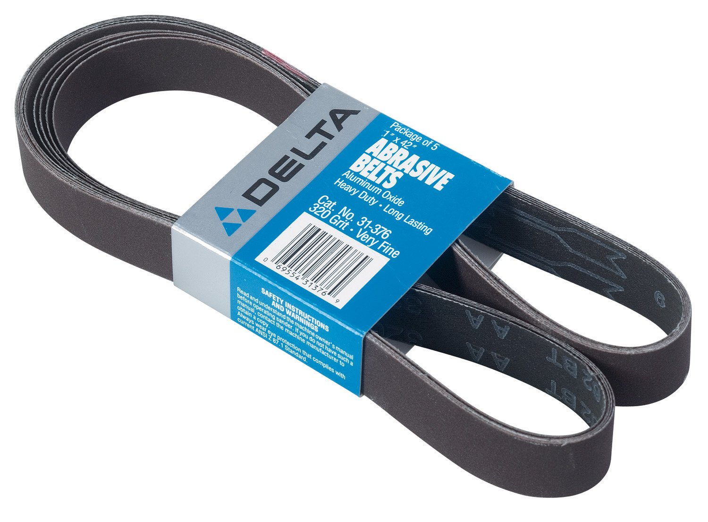 DELTA 31-376 1-Inch x 42-Inch 320 Grit Sanding Belts (5-Pack)