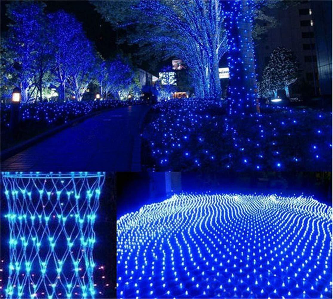 MR.MO Net Mesh Fairy Light, Luce Natalizia LED 6  4M 880 Luci,Blu Luci da Prato Engineering Illuminazione Stradale con Connettore Terminale Plug Regalo Impermeabile