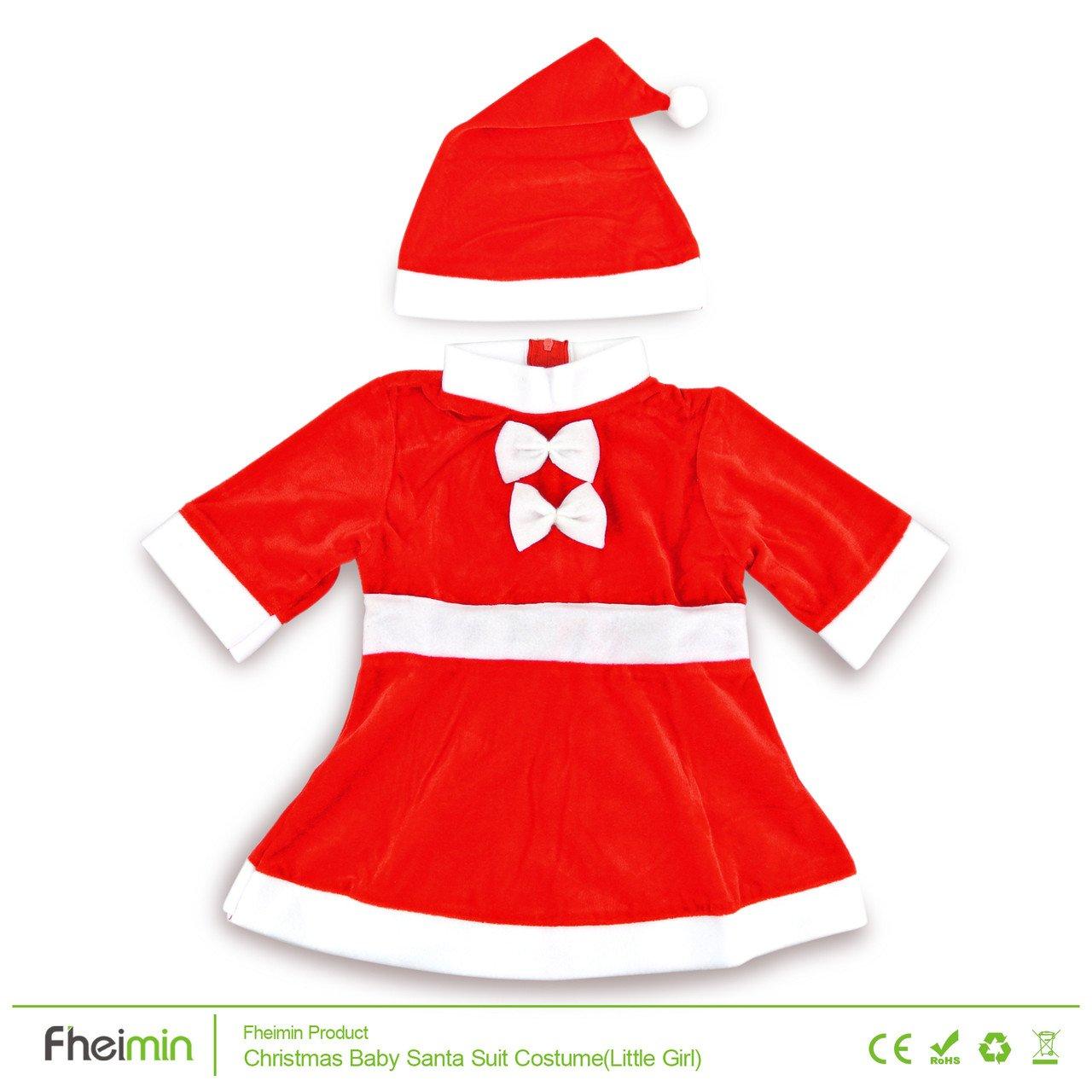 Disfraz Papá Noel de ropa niño Niña Vestido Disfraz para Noel 2 ...