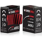 Wicked Chili Akku 2er Set für GoPro Hero 3+ / 3 (Pro Series, 3.7 V / 4.37 W / 1.18A, Aufnahmezeit bis zu 118 Minuten, ersetzt AHDBT-302 / AHDBT-301)