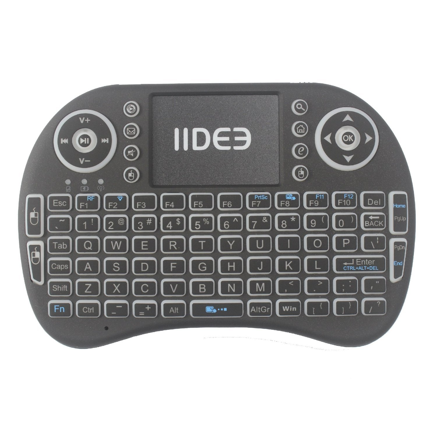 Rii i8 (10038-ID) Mini 2.4GHz Wireless Touchpad Keyboard with Mouse, Black by Rii (Image #5)