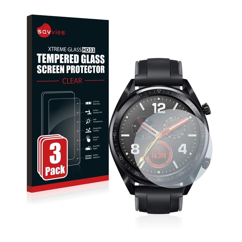 savvies Cristal Templado Compatible con Huawei Watch GT 2 (46 mm ...