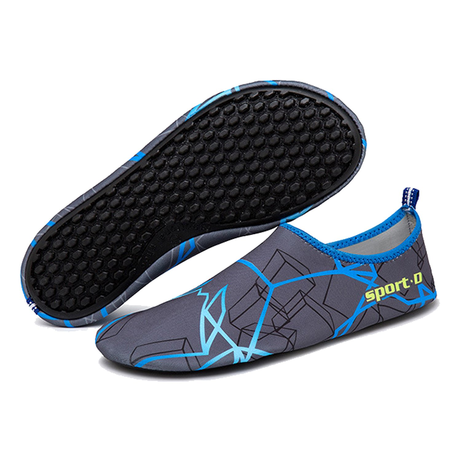 ba knife Water Swim Shoes Mens Womens Beach Swim Water Quick-Dry Aqua Socks Pool Shoes for Surf Yoga Water Aerobics B0746CBGR1 12 B(M) US Women / 10 D(M) US Men|Gradient Blue 91d751