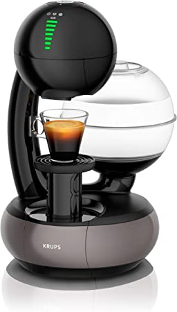 Krups - Cafetera de cápsulas Nescafé Dolce Gusto Esperta (1500 W, capacidad del depósito de agua: 1,4 l. Presión de la bomba: 15 bares) Negro y gris titanio.: Amazon.es: Hogar