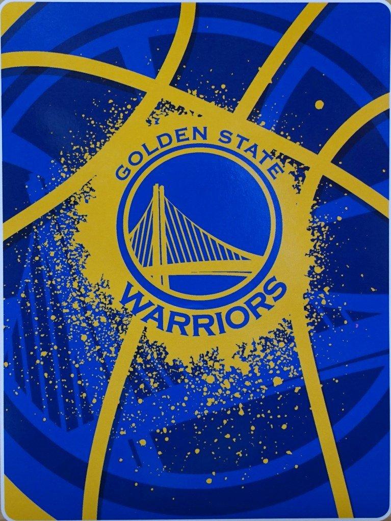 The Northwest Company Golden State Warriors NBA Shadow Play Raschel ROYAL PLUSH 60x80 Throw/Blanket