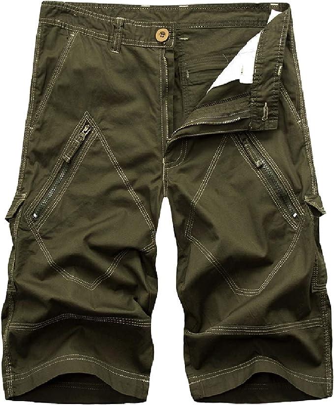 EnergyWD Men's Slim Cotton Oversized Combat Trouser Relaxed-Fit Boardshort
