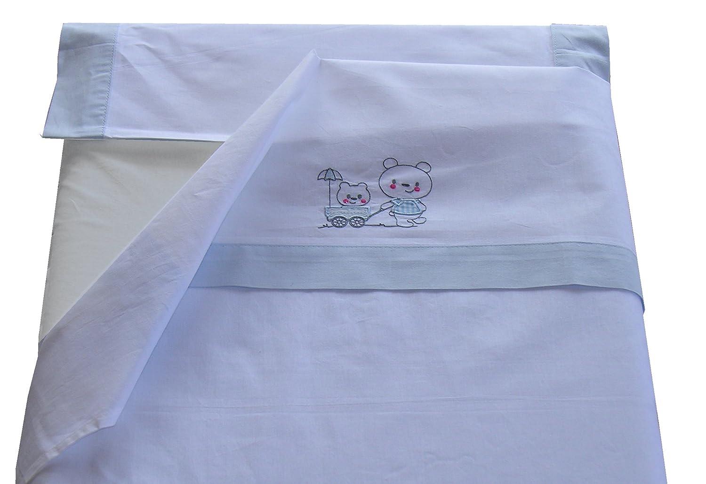 sábanas cuna de 60 x 120cm. 100% Algodón, 3 piezas Creaciones Forcada s.l.