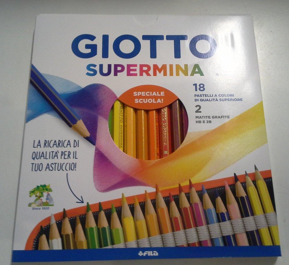 Giotto Supermina mina da 3, 8 mm 18 pz piu' 2 matite in grafite