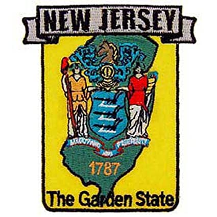New Jersey State Map Patch 3/""