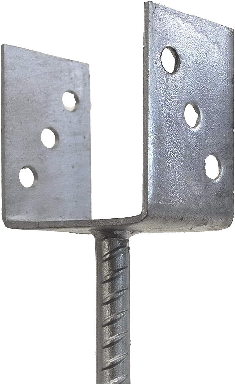 Gabelweite 121 mm Pfostentr/äger Balkentr/äger Pfostenschuh U Gabel mit Dolle 400 mm lang zum Einbetonieren Gesamtl/änge 500 mm
