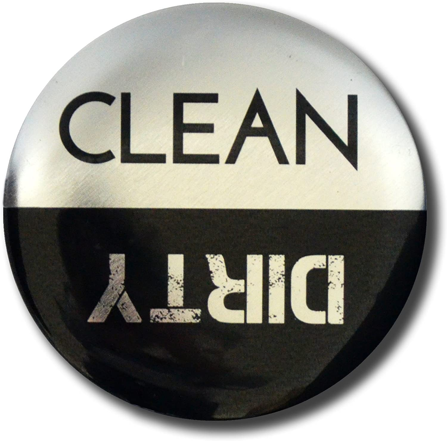 Home Advantage Clean Dirty Dishwasher Magnet Sign, 3 inch Diameter Stainless Steel