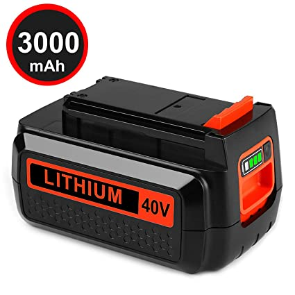Amazon.com: Batería de repuesto de litio de 40 V Max 3,0 Ah ...