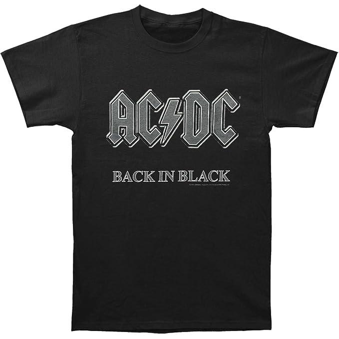 7303f34c3 Impact Men's AC/DC Back In Black Short-Sleeve T-Shirt | Amazon.com