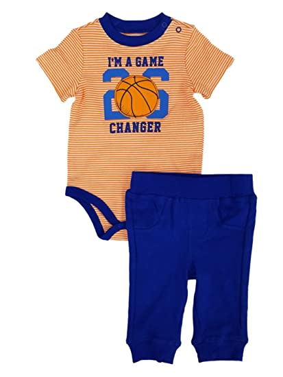 230bb4f46 Amazon.com  Infant Boys Baby Outfit 2-Piece Game Changer Basketball ...