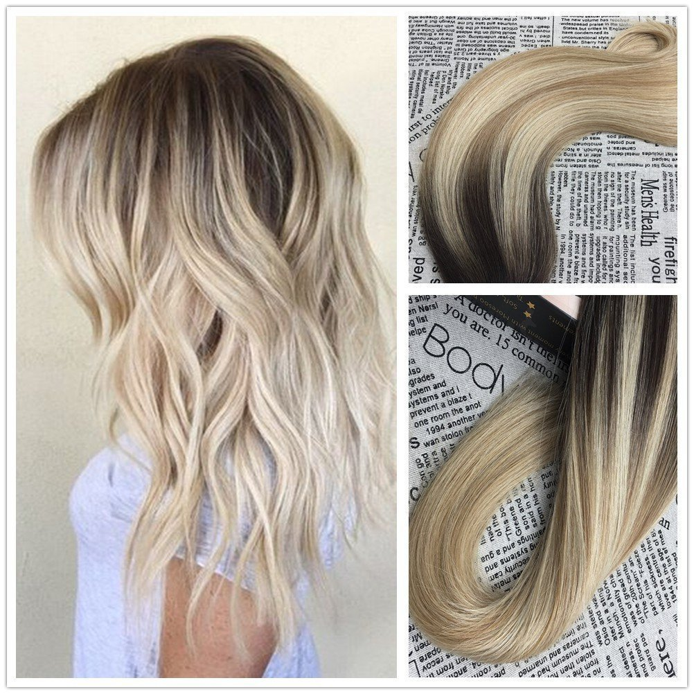 Amazon Moresoo 14inch Tape In Extensions Remy Human Hair Color