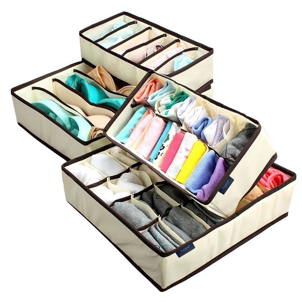 organizer product box bra for case drawers storage closet drawer divider sock tie