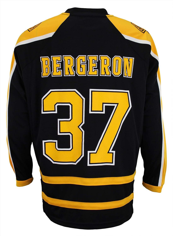 ... 50% off outerstuff boston bruins patrice bergeron 37 nhl mens replica  jersey black black large 96a5283af