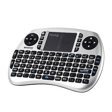 Mini Teclado Bluetooth, 2.4GHz portátil Teclado inalámbrico con con Ratón Touchpad, Compatible con