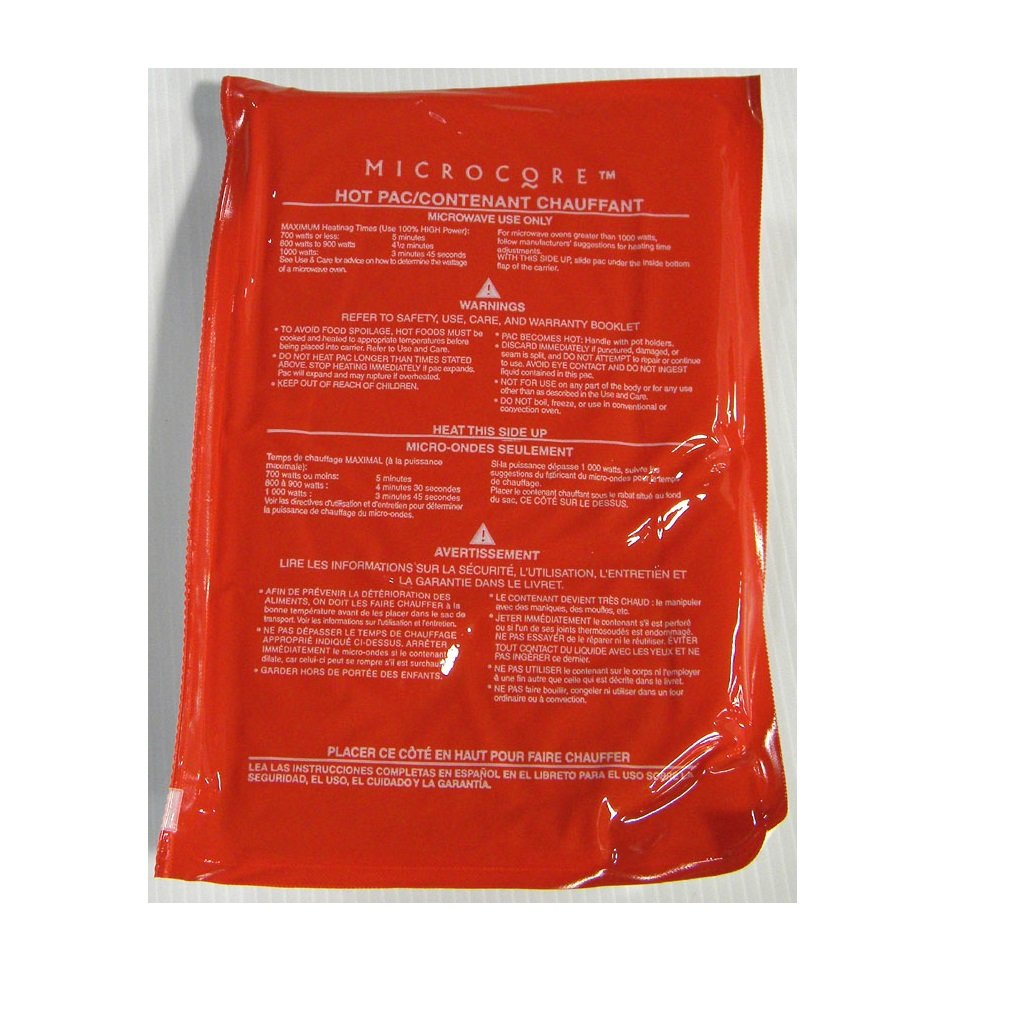 Vesture Hot Pack-Replacement Microcore Pac for Casserole Carriers (Red Pack For Microwave Heating) by Microcore