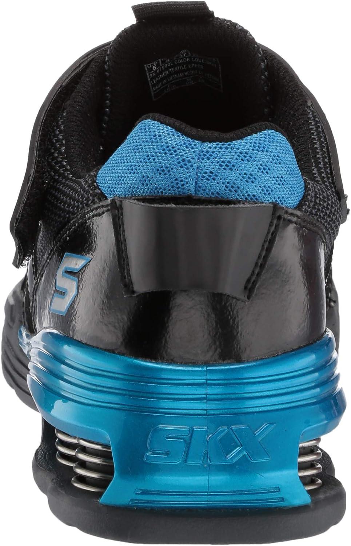 Skechers Kids Gore /& Strap Sneaker W//Heel