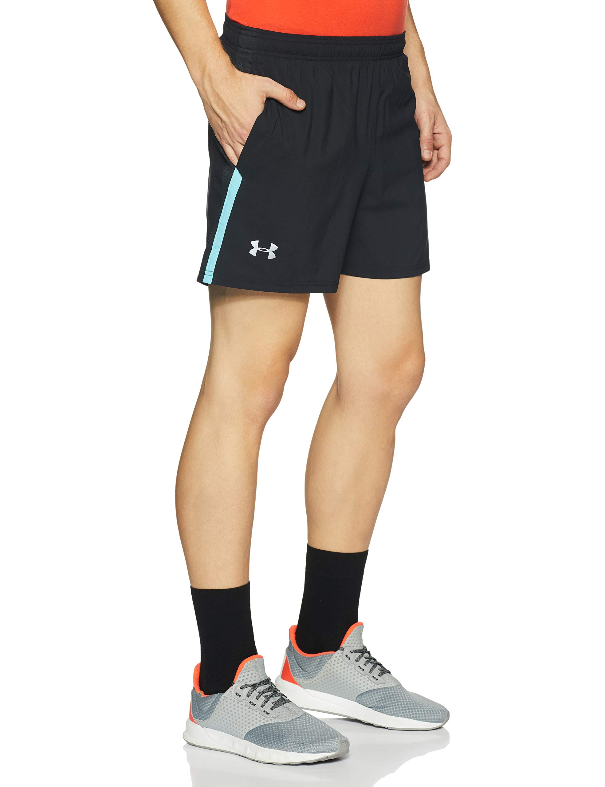 Under Armour Men's Launch SW 5'' Short, Black/Venetian Blue, X-Small by Under Armour (Image #3)