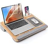 """LORYERGO Laptop Lap Desk - Lap Desk Fits Up to 17"""" Laptops, Lap Desk for Bed w/Wrist Rest & Mouse Pad, Laptop Desk w/Slot for"""