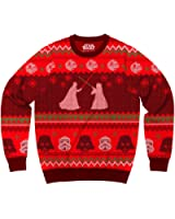 Star Wars Death Star Saber Showdown Adult Red Ugly Christmas Sweater