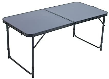 RIO Gear Centerfold Lightweight Heat-Resistant Folding Table for Outdoor  and Indoor Use
