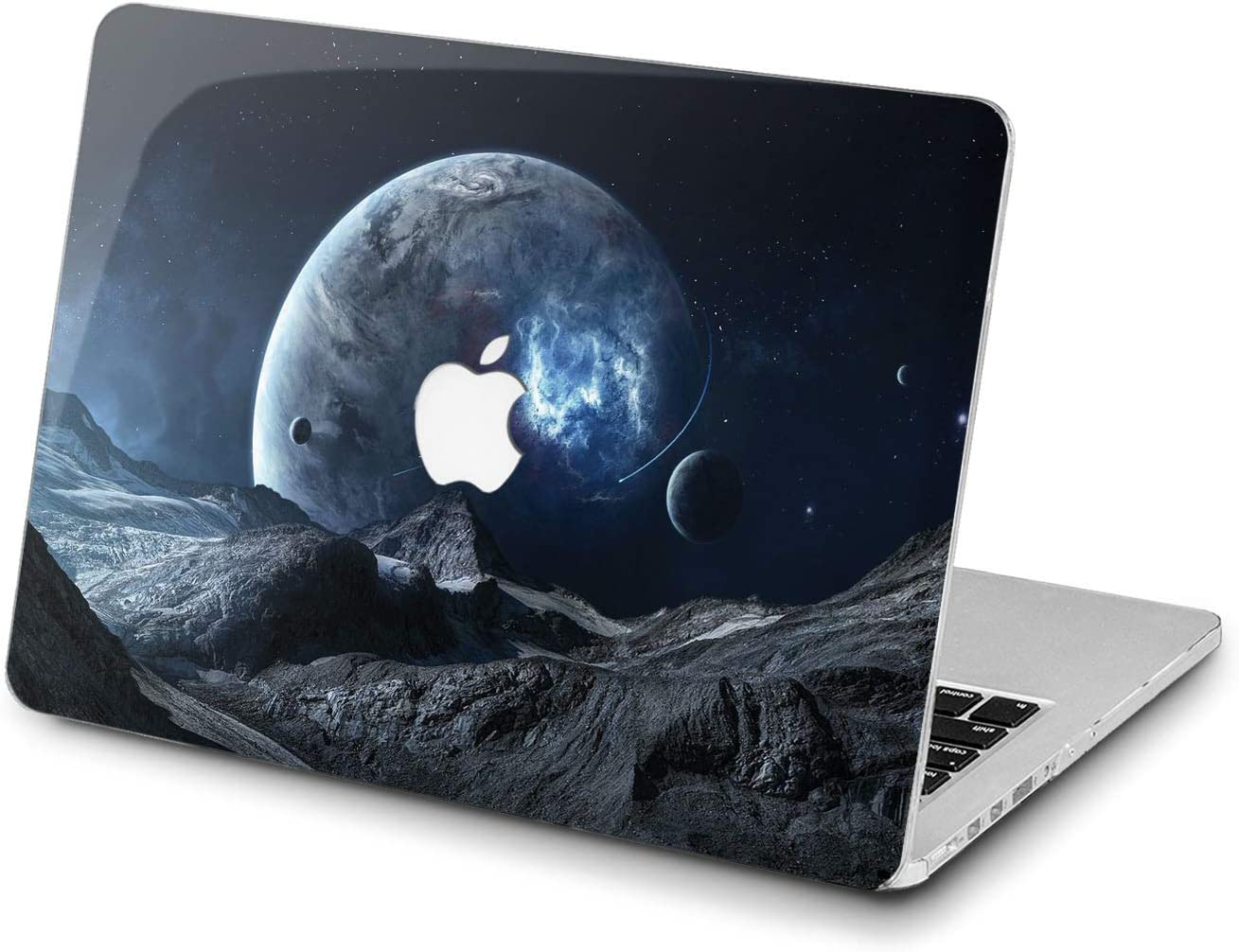 Lex Altern Hard Case for Apple MacBook Pro 15 Air 13 inch Mac Retina 12 11 2020 2019 2018 2017 2016 Earth Moon Girl Art Blue Planet Space Design Plastic Women Highland Laptop Fantasy Protective