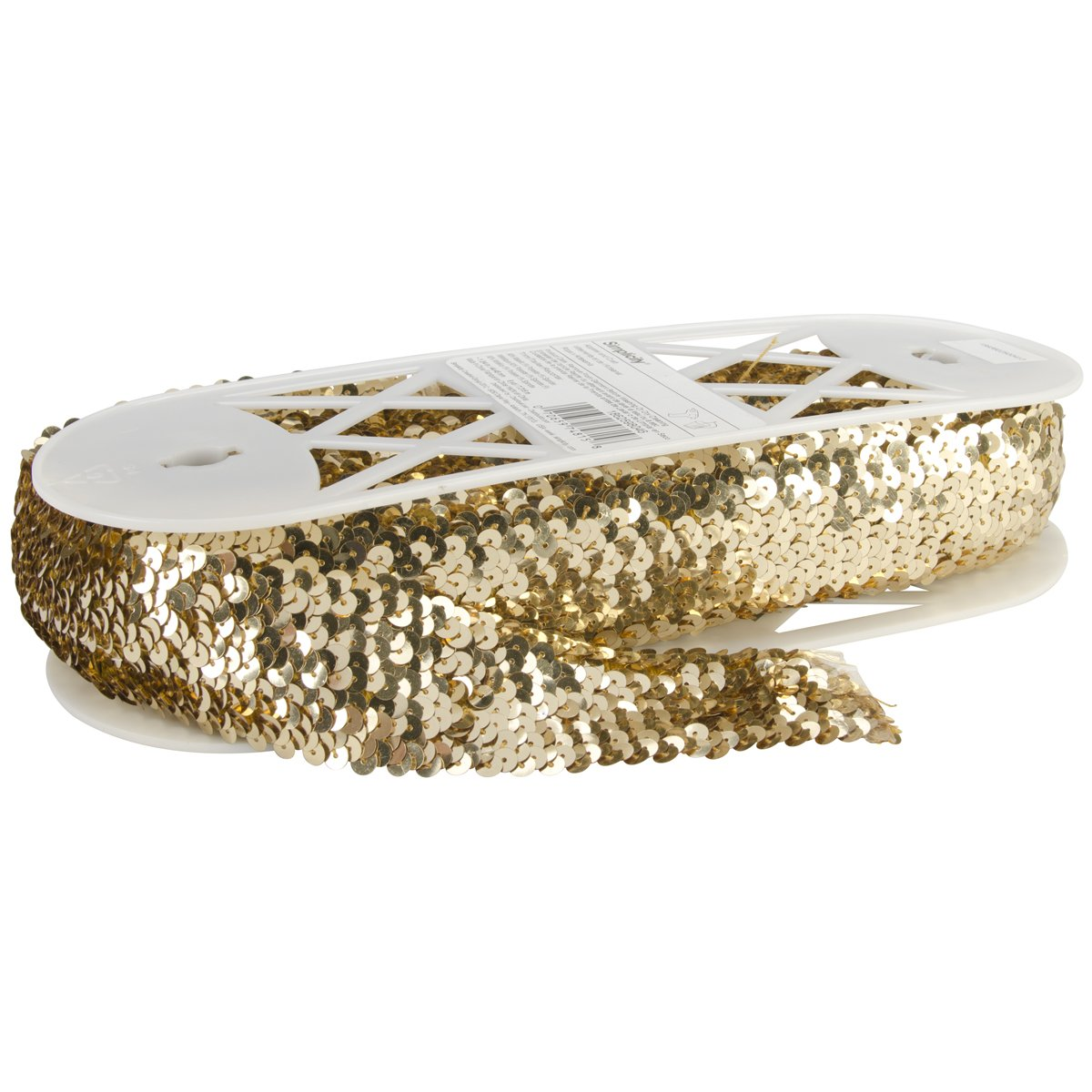 Wrights Five Row Stretch Sequins, 1-3/4-Inch by 8-Yard, Gold by Wright Products