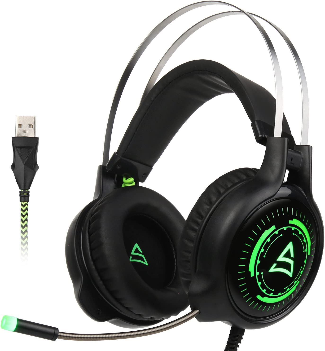 PS4 Gaming Headset 3.5mm wired Over-ear Noise Isolating Microphone Volume Control for Mac PC// Laptop PS4//Xbox one Black SUPSOO G813 Xbox One