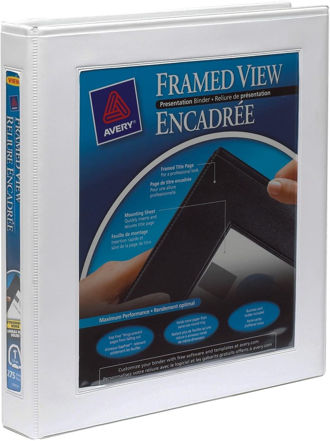 AVE68056 Averyreg Framed View Heavy Duty Binders with One Touch EZD Rings