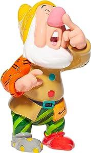 Enesco Disney by Romero Britto Snow White and The Seven Dwarfs Sneezy Miniature Figurine, 4.7 Inch, Multicolor