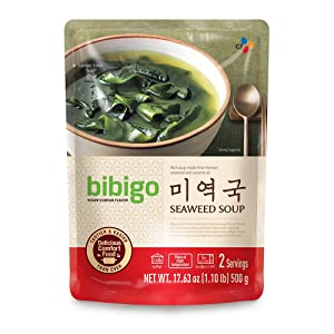 bibigo Korean Seaweed Soup, Miyeok-Guk, Ready-to-Eat, 17-ounce (1-Pack)