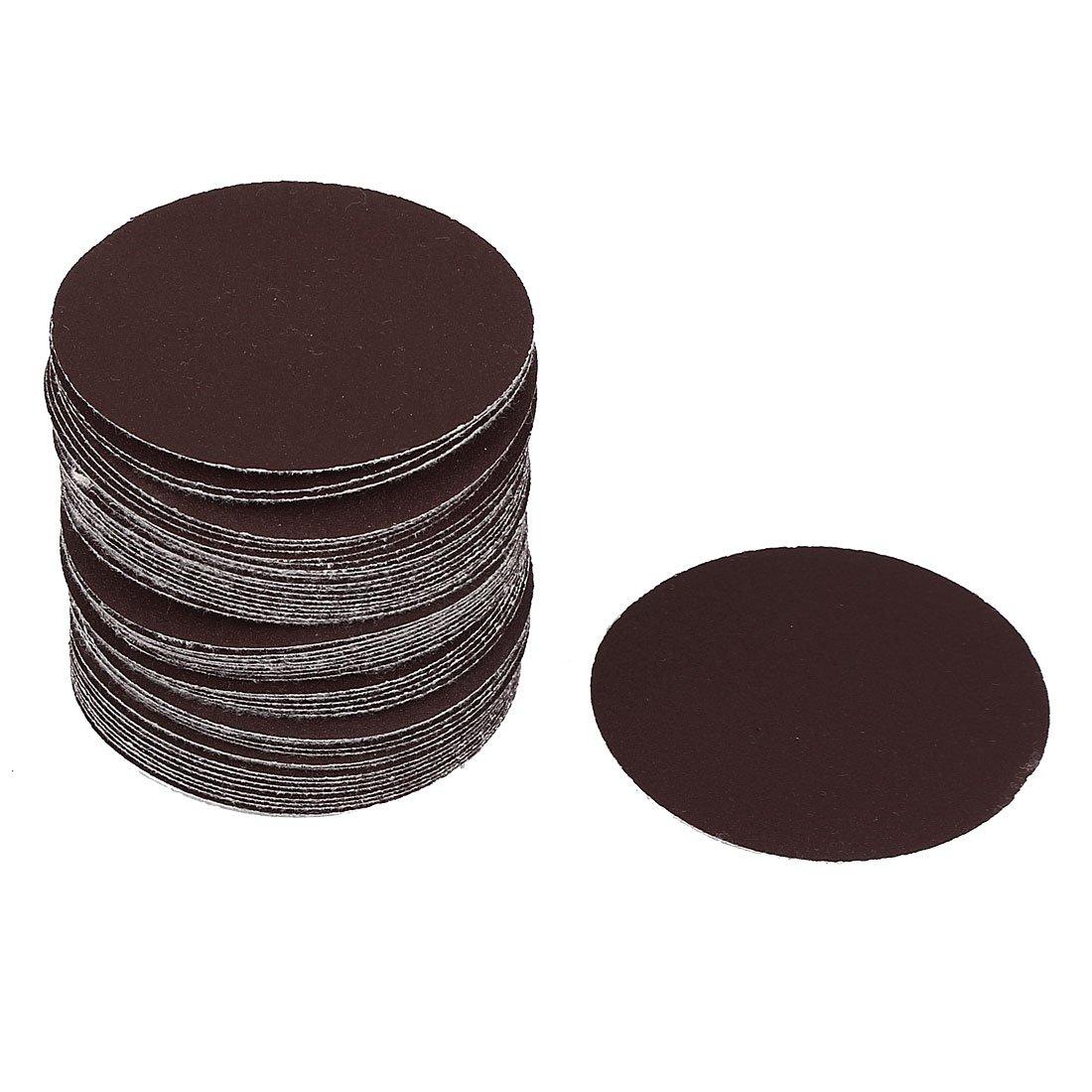 Uxcell a16031000ux0889 3'' Dia 180 Grit Abrasive Sanding Paper Disc Flocking Sandpaper (Pack of 50)