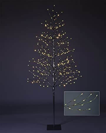 northern lights starlit tree with 198 led lights 7 feet silver finish warm