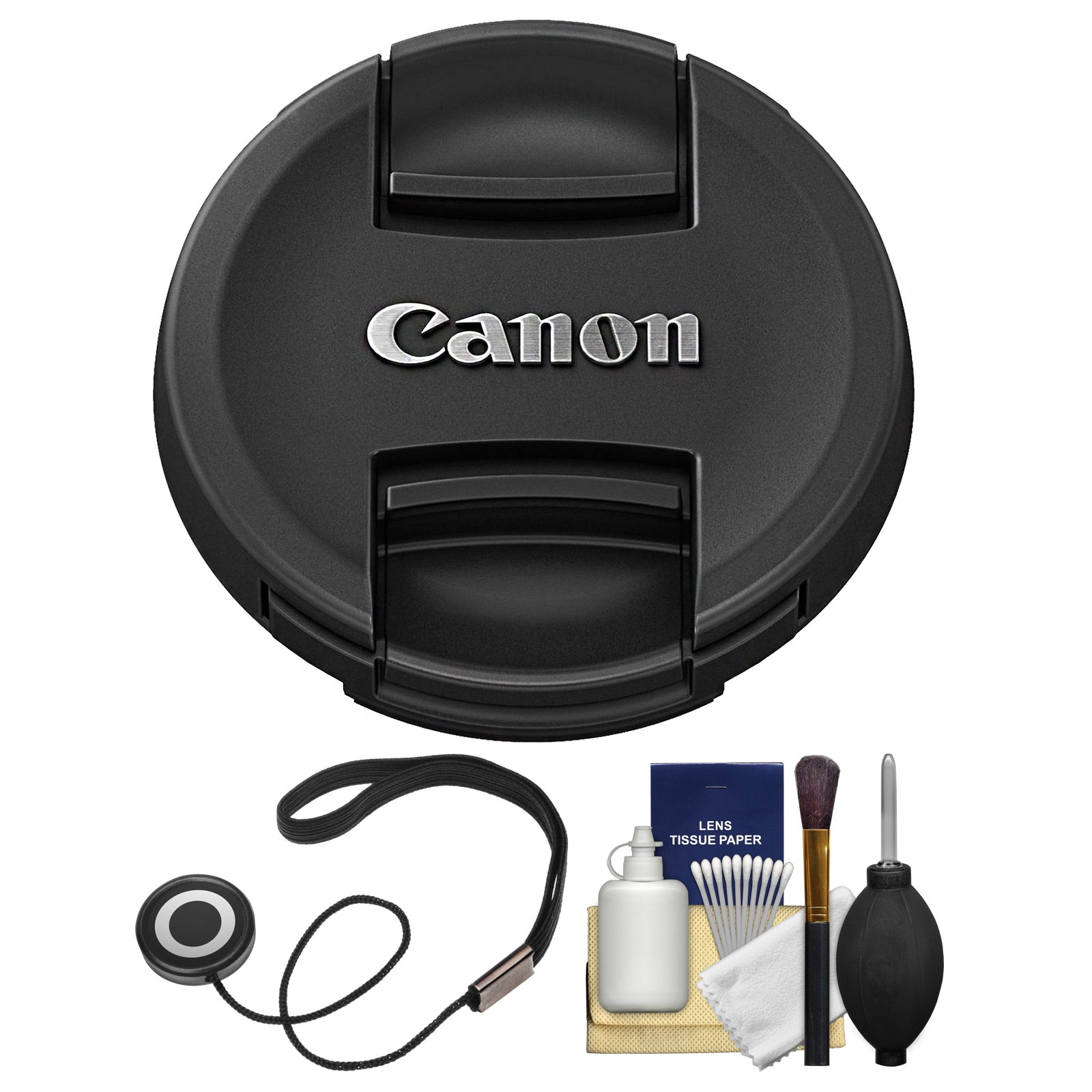 Canon E-58II 58mm Snap-On Lens Cap with CapKeeper + Cleaning Kit