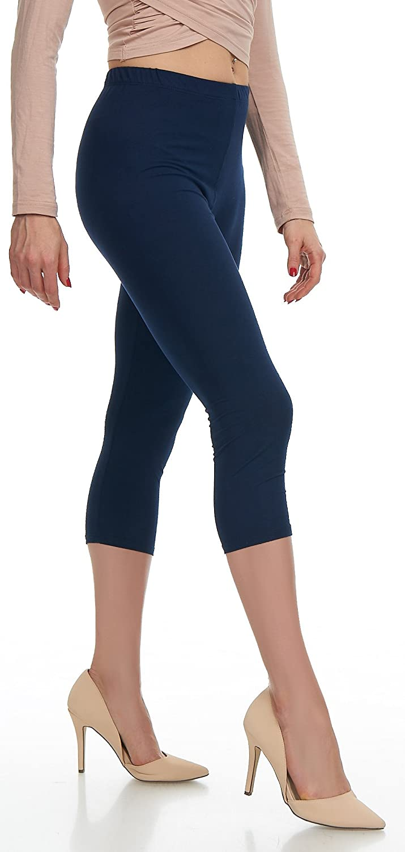 20 Colors Extra Soft Capri Leggings with High Waist Plus