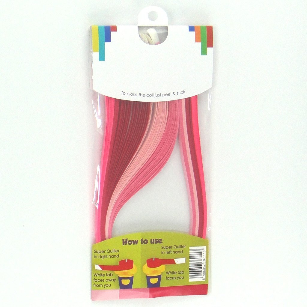 Tones of Pink - 5 mm - 100 Quilling Strips by Quill On (Image #4)