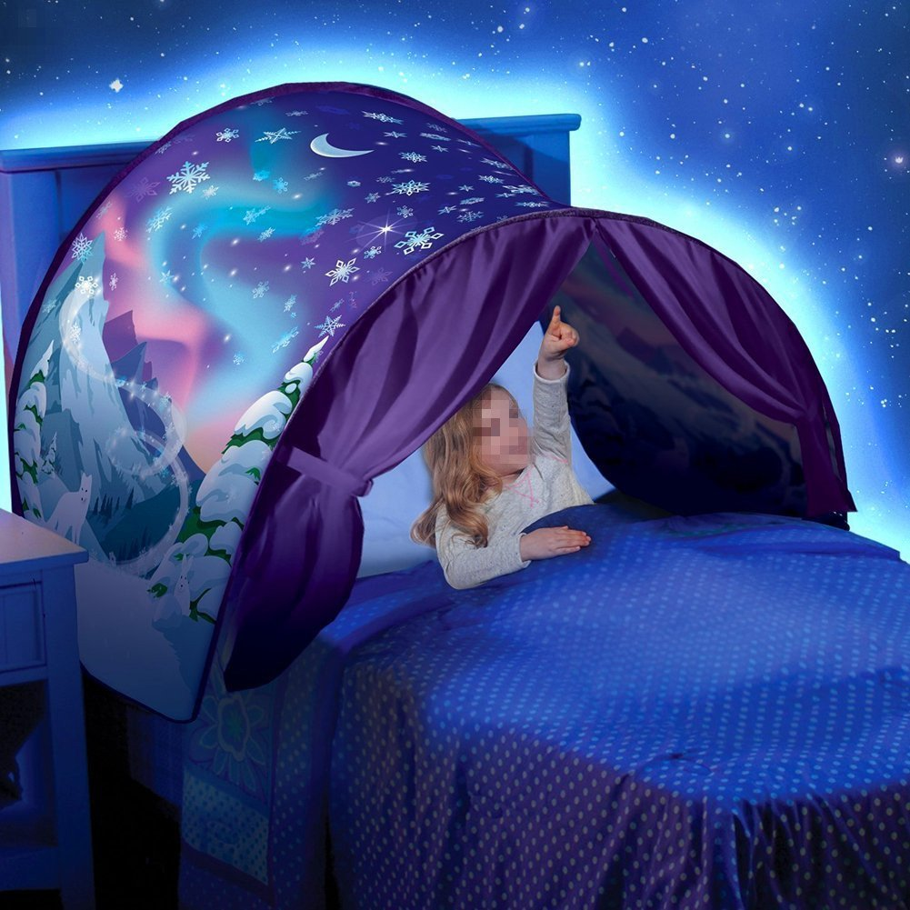 GbaoY Foldable Galaxy Starry Sky Dream Tent Kids Pop Up Bed Tent Fairy Playhouse Play Tent Bedroom Festival Decoration Tent (Space Adventure)