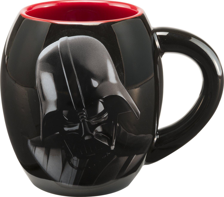 Vandor 99561 Star Wars Darth Vader 18 ozOval Ceramic Mug, Black