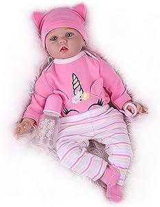 Kaydora Reborn Baby Doll,Realistic Newborn Doll Girl,22 inch Weighted Baby